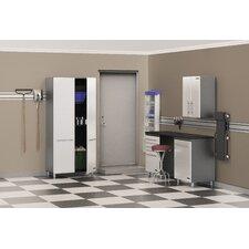 Ulti-MATE Storage 7' H x 9' W x 2' D 5-Piece Storage System with Workstation
