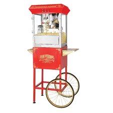 Roosevelt 8 Oz. Antique Popcorn Machine with Cart