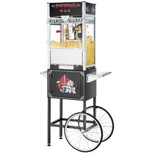 12 oz.TopStar Black Commercial Quality Popcorn Machine with Cart