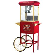 Princeton 8 Oz. Antique Popcorn Machine with Cart