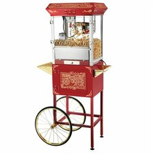 8 Oz. Popcorn Popper Machine & Cart