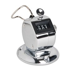 Tally Counter With Base, Silver