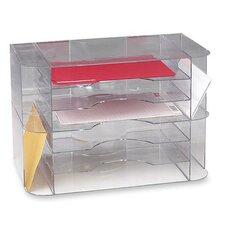 Sparco 6-Divider Jumbo Desk Sorter, Clear