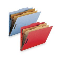 Classification Folders, w/ Fstnrs, 2 Dvdrs, Legal, 10 per Box