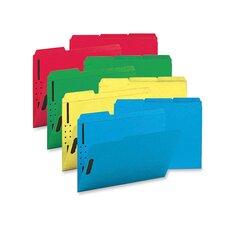 Fastener Folders, w/ 2-Ply Tab, 1/3 Ast Tab, 50 per Box, Letter