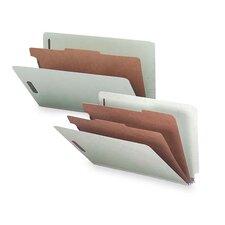 Classification Folder, w/Fasteners, 1 Divider, Lgl, 10/BX, Gray