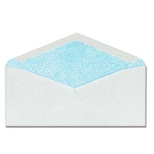 """Commercial Envelopes, Security Tint, Window, No. 10, 4-1/8""""x9-1/2"""", White"""