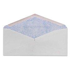 "Commercial Envelopes, Security Tint, 4-1/8""x9-1/2"", 500/BX, White"