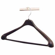 "Suit Hanger, 1 Piece, 17"", Plastic, 24 per Pack, Black"