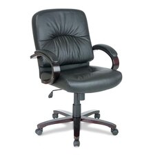 Mid-Back Woodbridge Series Leather Conference Chair
