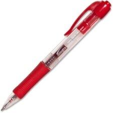 Retractable Gel Pen with Rubber Grip, Dozen