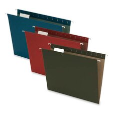 1/5 Cut Tab Recycled Hanging Folders, Assorted, Letter Size, 1/5 Tab Cut, 25 per Pack