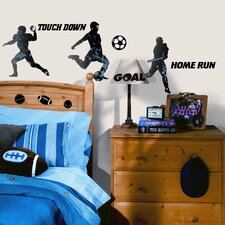 Studio Designs 23 Piece Sports Silhouettes Wall Decal