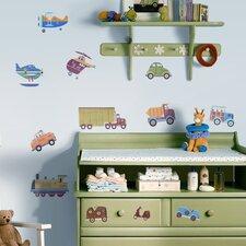 Studio Designs 26 Piece Transportation Wall Decal