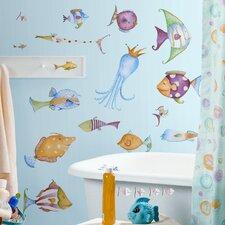 Studio Designs 35 Piece Sea Creatures Wall Decal