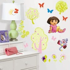 Favorite Characters 28 Piece Nickelodeon Dora The Explorer Wall Decal