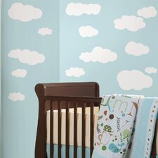 Room Mates Deco 19 Piece Clouds Wall Decal