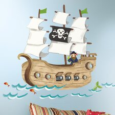 Studio Designs Pirate Ship Giant Wall Decal