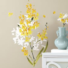 29 Piece Deco Flower Arrangement Peel and Stick Wall Decal Set