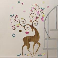 Seasonal 46 Piece Ornamental Reindeer Wall Decal