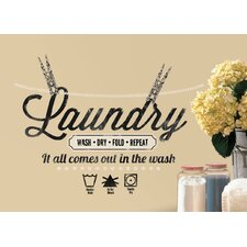 Laundry Quote Peel and Stick Wall Decal