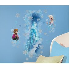 Popular Characters Frozen Ice Palace with Else and AnnaWall Decal