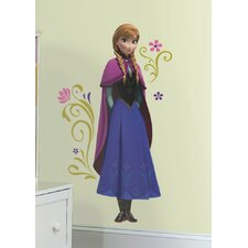 Popular Characters Frozen's Anna with Cape Giant Wall Decal