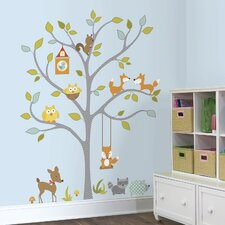 Woodland Fox and Friends Tree Peel and Stick Wall Decal