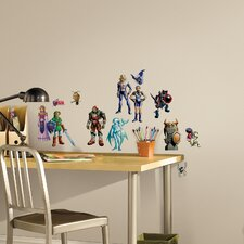 Popular Characters 23 Piece Zelda Ocarina of Time 3D Wall Decal