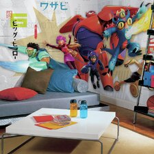 Prepasted Big Hero 6 XL Ultra Strippable Wall Mural