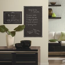 Decorative 2.3' x 1.4' Chalkboard Peel and Stick Giant Wall Decal