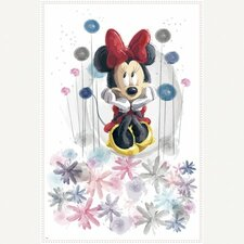 Minnie Floral Peel and Stick Giant Wall Wall Decal
