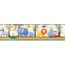 "Studio Designs Jungle Adventure Peel and Stick 15' x 5"" Wildlife Border Wallpaper"