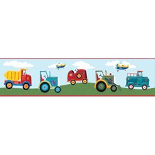 "Studio Designs Transportation 15' x 5"" Border Wallpaper"