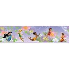 "Disney Fairies 6.75' x 1.5"" Floral and Botanical Border Wallpaper"