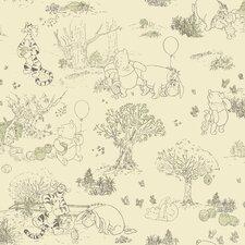 "Room Mates Deco Winnie The Pooh Toile 33' x 20.5"" Border Wallpaper"