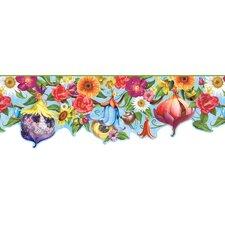 "Room Mates Deco Fairies House 15' x 8.5"" Floral and Botanical Border Wallpaper"