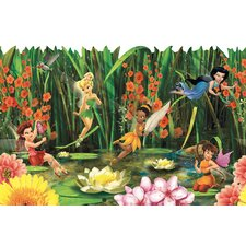 """Room Mates Deco Fairies and Lily Pads 9' x 1.5"""" Border Wallpaper"""