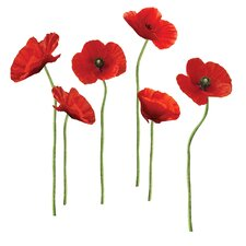 Poppies at Play 12 Piece Giant Wall Decal Set