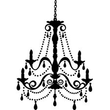 Deco Chandelier Gems Giant Wall Decal