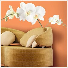 Room Mates 3 Piece Deco White Orchid Wall Decal Set
