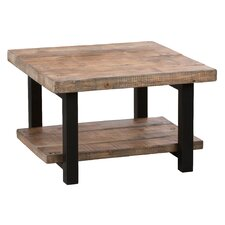 "Pomona 27"" Reclaimed Wood Square Coffee Table"