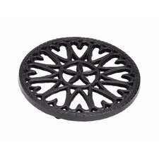 "7"" Cast Iron Trivet Sunburst"