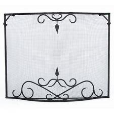 Bostonian Curved Wrought Iron Fireplace Screen