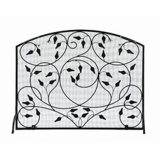 Leaves Flat Fireplace Screen