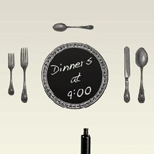Cutlery Chalkboard Wall Decal