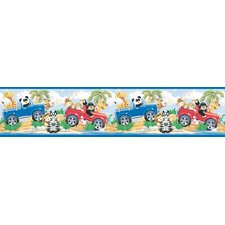 "Snap Kids Jeep Safari Self Stick 15' x 5"" Abstract Border Wallpaper"
