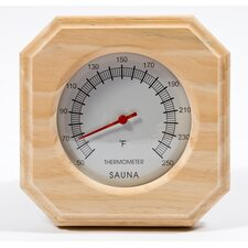 Deluxe Wood Thermometer
