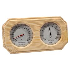 Deluxe Wood Thermometer and Hygrometer