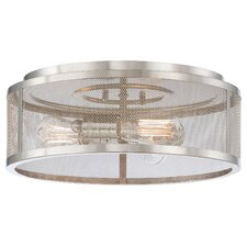 Downtown Edison 3 Light Flush Mount